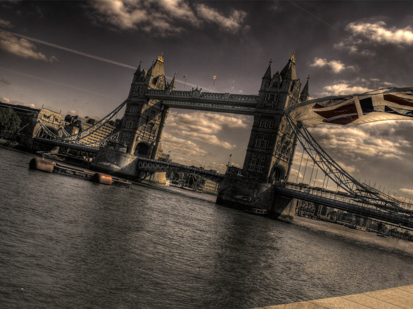 Лондон темза мост флаг фотка 57501 я